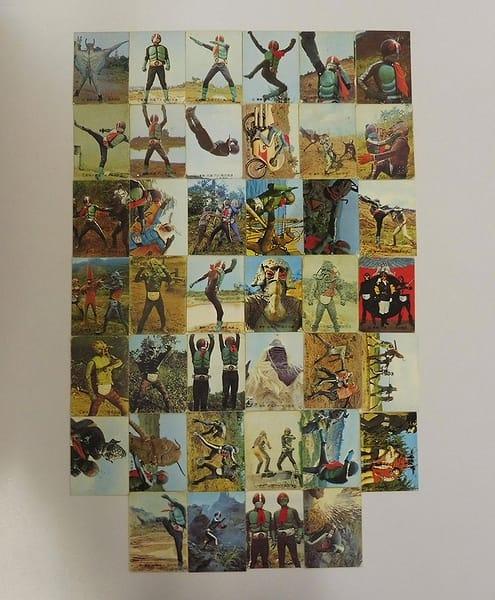 カルビー 当時物 旧 仮面ライダー カード 34-104 40枚