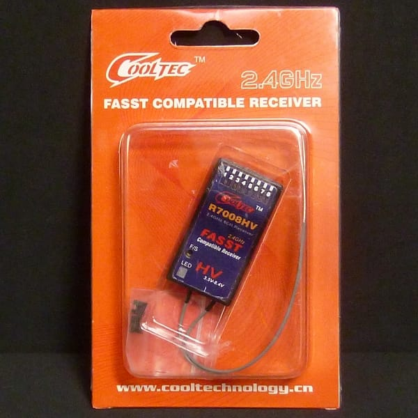 COOLTEC R7008HV FASST 2.4GHz 8ch 受信機 / Cooltech