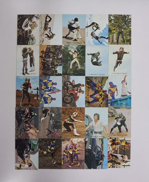 カルビー 当時物 旧 仮面ライダー カード 277-320 25枚