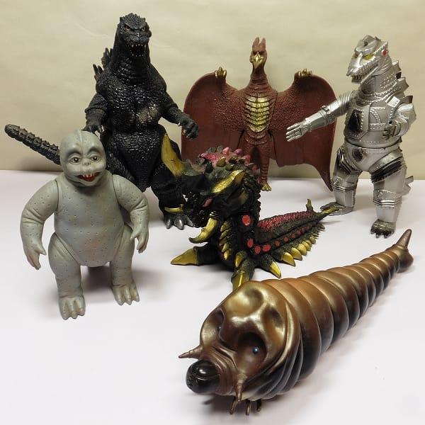 ゴジラ怪獣 ソフビ 日本製 ミニラ メカゴジラ ラドン 他