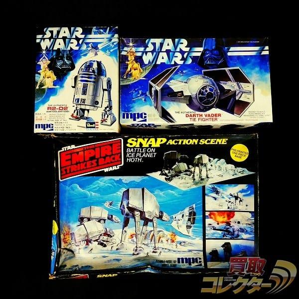 mpc STARWARS プラモ 1/8 R2-D2 ベイダー タイ・ファイター 他