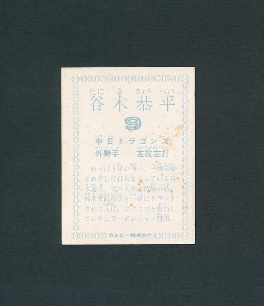 カルビー プロ野球 カード 1978年 谷木恭平 中日_2