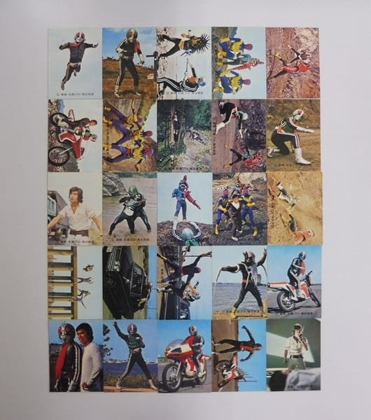 カルビー 当時物 旧 仮面ライダー カード 290-329 25枚