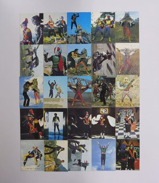 カルビー 旧 仮面ライダー カード 388-416 セミコンプ