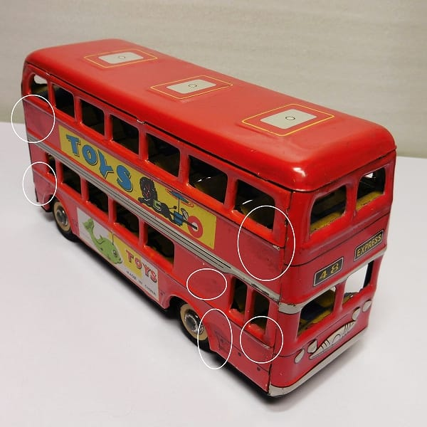 ブリキ フリクションカー バス タンクローリー オイルタンカー_2