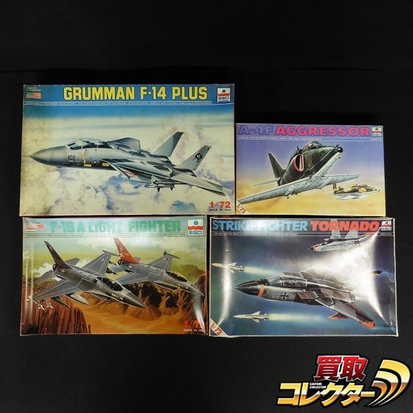エッシー 1/72 F-14 PLUS F-16A A-4F アグレッサー トーネード