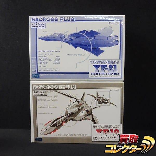 ビックウエスト 1/72 MACROSS PLUS YF-19 YF-21 ガレキ