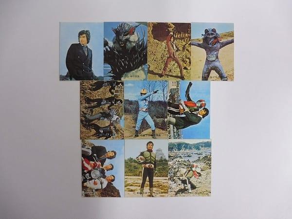 カルビー 当時 旧 仮面ライダー カード 123-155 30枚 セミコンプ_3