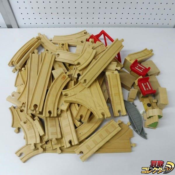 木製 レールウェイ カーブ ストレート 標識 分岐 等 / ブリオ