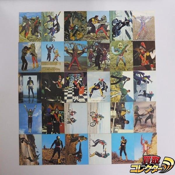 カルビー 旧 仮面ライダー カード 395-428 30枚 セミコンプ