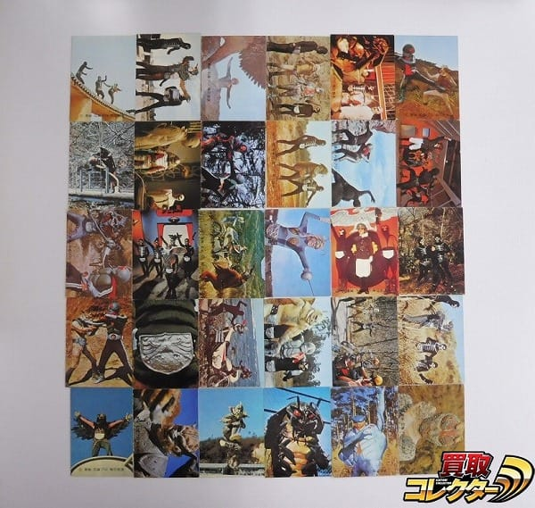 カルビー 旧 仮面ライダー カード 143-175 30枚 セミコンプ
