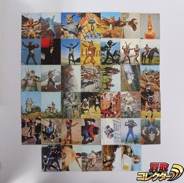 カルビー 当時物 旧 仮面ライダー カード 176-229 40枚 1号