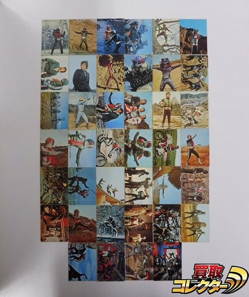 カルビー 旧 仮面ライダー カード 115-156 40枚 セミコンプ