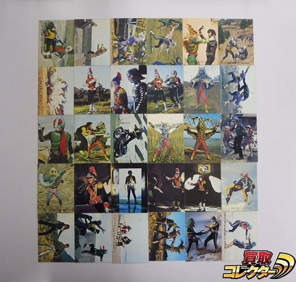 カルビー 当時物 旧 仮面ライダー カード 377-425 30枚