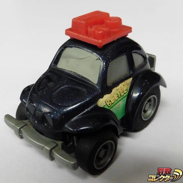 タカラ 当時物 豆ダッシュ VW ビートル 濃紺 日本製 / チョロQ