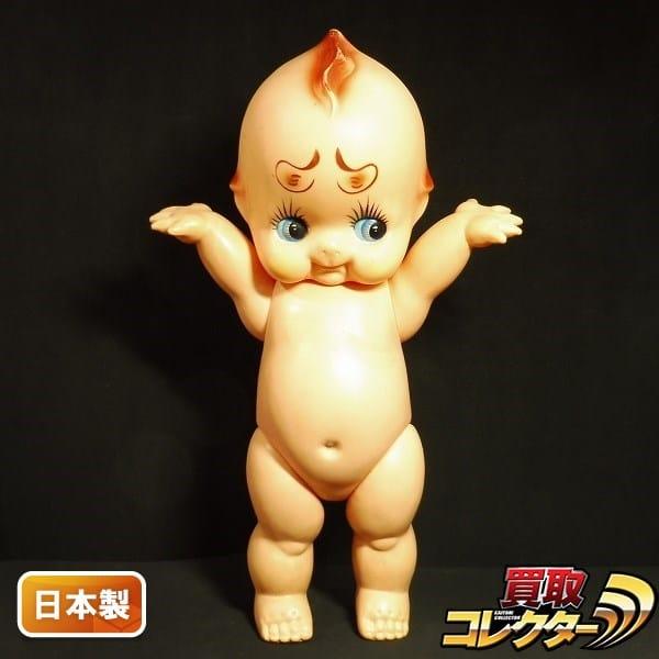キューピー人形 ビッグソフビ 日本製 変眉 緑羽根 約54cm