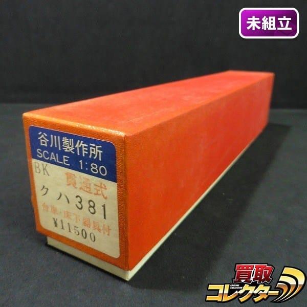 谷川製作所 HO BK 貫通式 クハ381 / 車体バラキット タニカワ