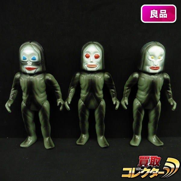 M1号 復刻 ソフビ ダダ A B C / ウルトラマン 三面怪人