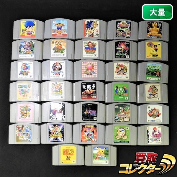 N64 ソフト 32本 マリオ 007 ゴールデンアイ ポケモン