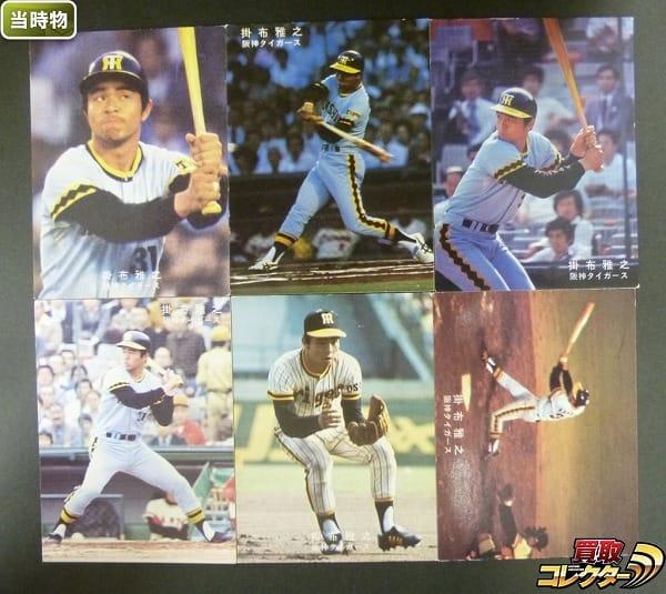 カルビー 当時 プロ野球 カード 78年版 掛布雅之 阪神タイガース