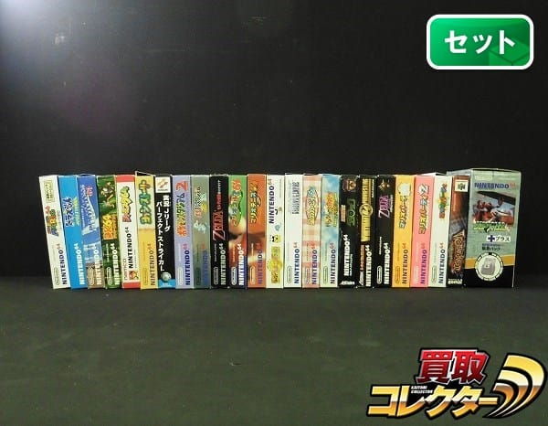 N64ソフト 23本 箱有 マリオ スターウォーズ ゼルダ カービィ 他