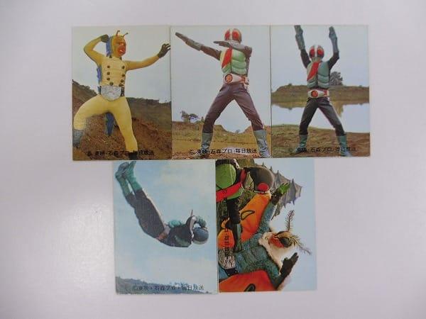 カルビー 当時物 旧 仮面ライダー カード 17-133 25枚 1号 2号_3