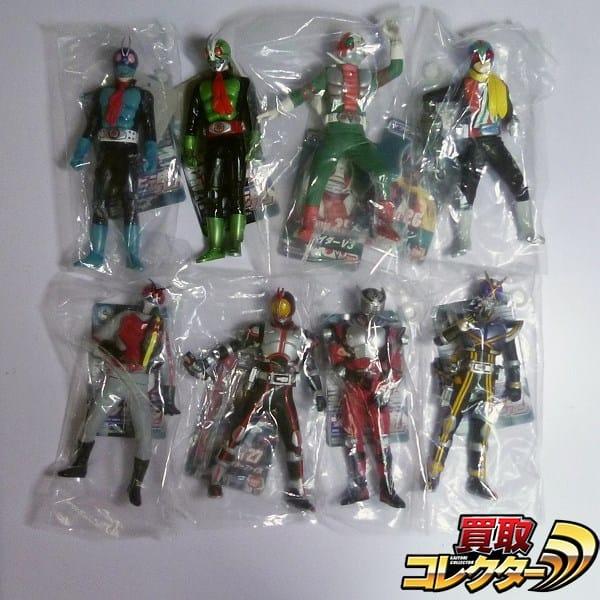 タグ付 ソフビ魂 仮面ライダー1号 2号 V3 ライダーマン X他