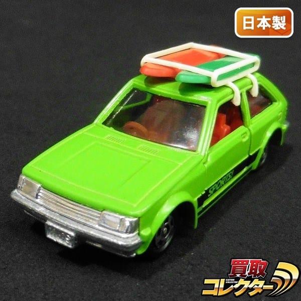 トミカ マツダファミリア 1500XG 緑 ルーフキャリア付 日本製