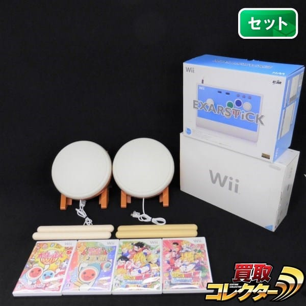 Wii 本体 太鼓の達人 タタコン エクサースティック ソフトセット