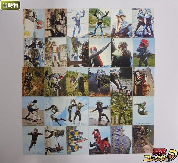 カルビー 当時 旧 仮面ライダー カード 229-305 30枚 一文字隼人