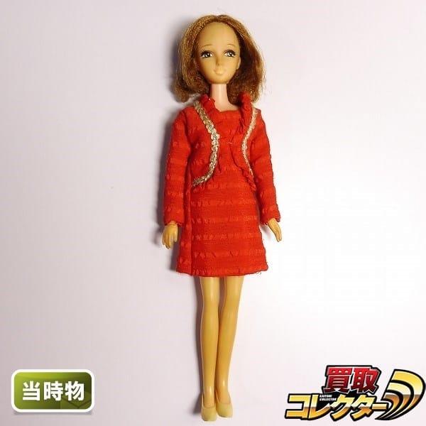 旧タカラ 当時物 初代 リカちゃんのママ 日本製 / 赤ワンピース