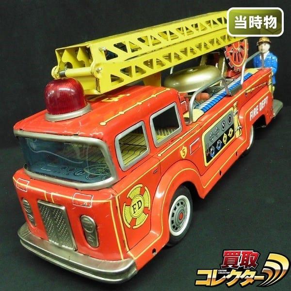 光球商会 当時物 フリクション ブリキ はしご 消防車 日本製