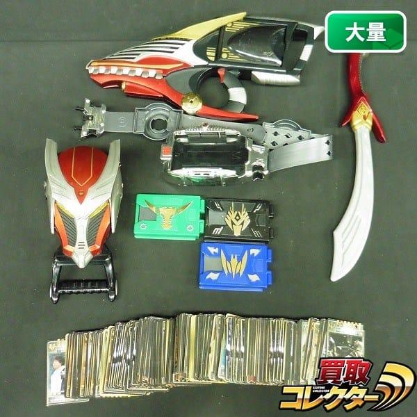 カード大量!! 仮面ライダー龍騎 ドラグセイバー Vバックル等