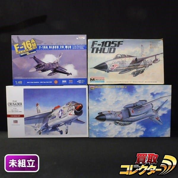 1/48 ハセガワ F-8J クルセイダー F-4EJ改 スーパーファントム 他