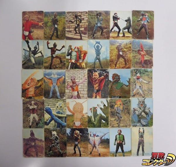 カルビー 当時物 旧 仮面ライダー カード 2-37 30枚 セミコンプ