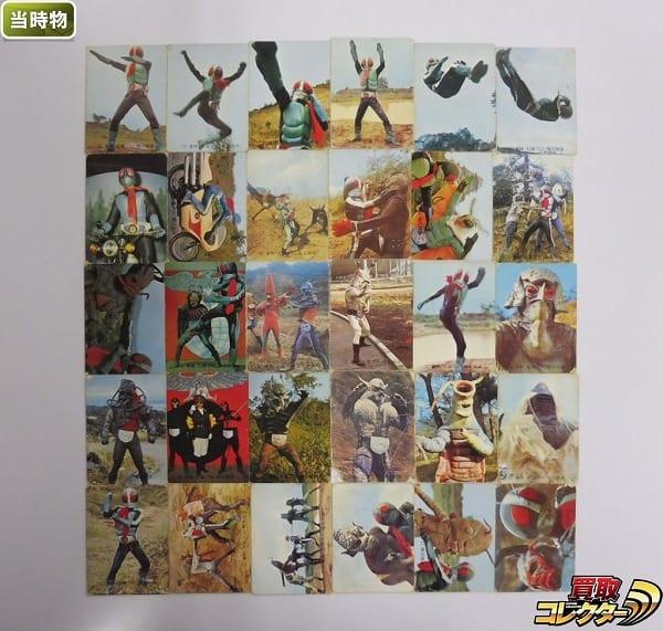 カルビー 当時物 旧 仮面ライダー カード 38-79 30枚 一文字隼人