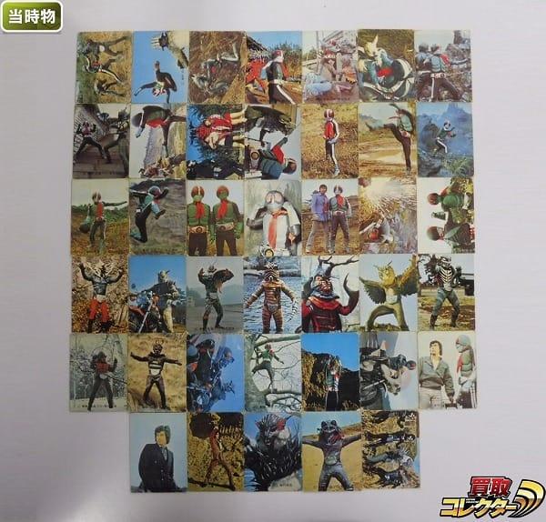 カルビー 当時物 旧 仮面ライダー カード 80-127 40枚 本郷 1号