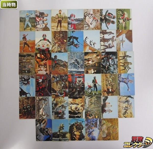 カルビー 当時物 旧 仮面ライダー カード 129-175 40枚 本郷猛