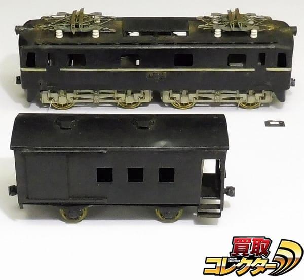 KTM カツミ Oゲージ ED10 電気機関車 デッキ付き貨車 / 自由形