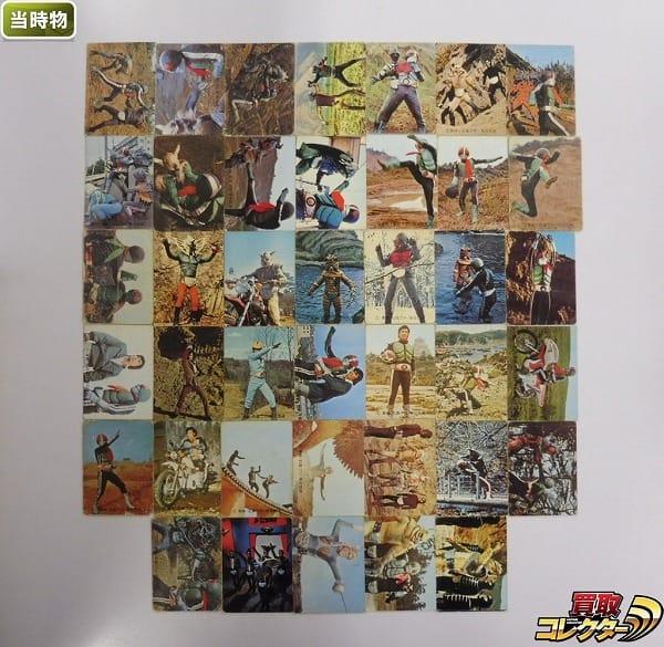 カルビー 当時 旧 仮面ライダー カード 80-166 40枚 一文字隼人