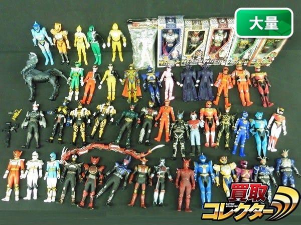 仮面ライダー スーパー戦隊 超星神等 大量 ソフビ