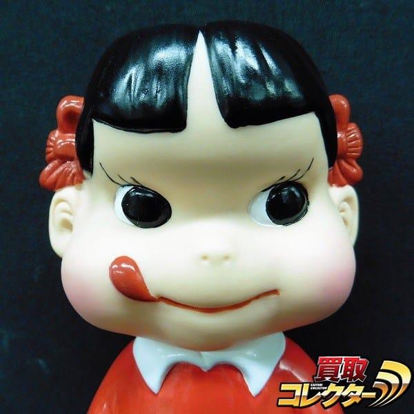 不二家 復刻版 ペコちゃん 園児服 赤服 ソフビ フィギュア 22cm