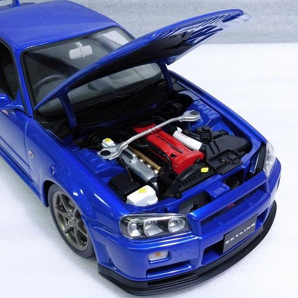 オートアート 1/18 スカイライン GT-R R34 V-SPECⅡ 青 / ブルー_3