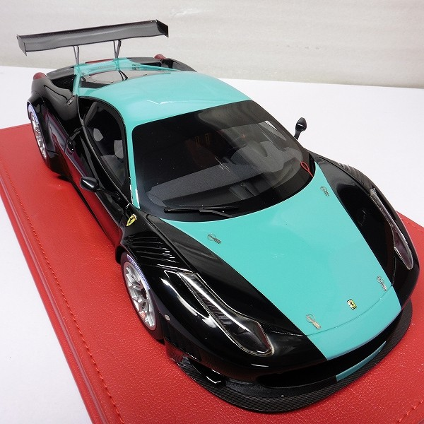 BBR 1/18 フェラーリ 458 イタリア GT3 2012 黒 緑_2