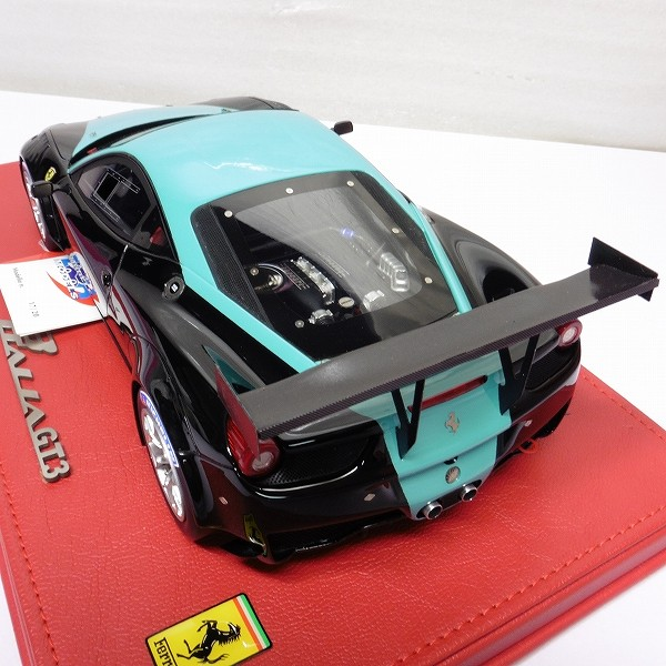 BBR 1/18 フェラーリ 458 イタリア GT3 2012 黒 緑_3