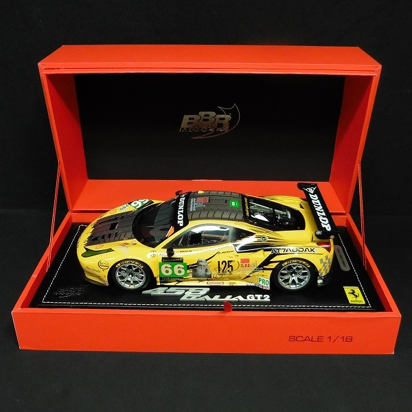 BBR 1/18 フェラーリ 458 イタリア GT2 GET 24H ルマン 2013 #66_2