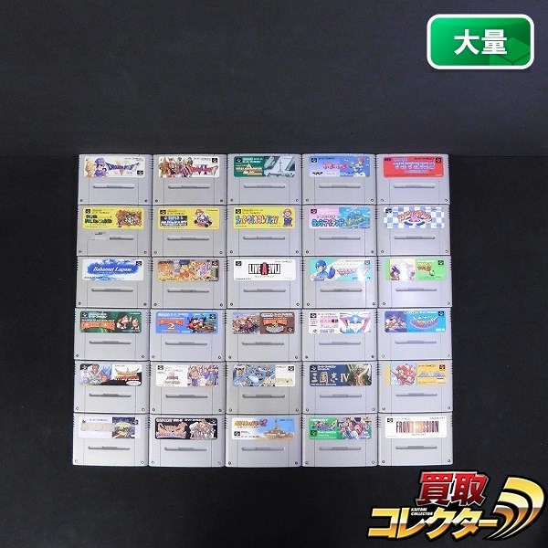 SFC ソフト 30本 ライブ・ア・ライブ ゴエモン ロックマン 他_1