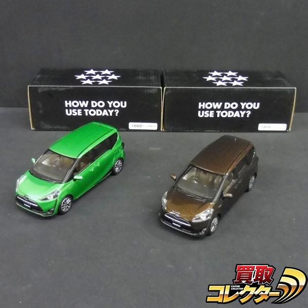 トヨタ カラーサンプル 1/30 シエンタ グリーン ブラウン 非売品