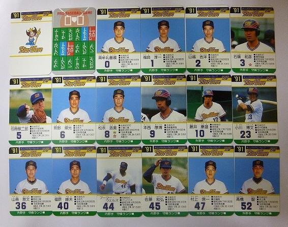 タカラ プロ野球ゲーム カード 91年度 オリックス 外箱付き_3