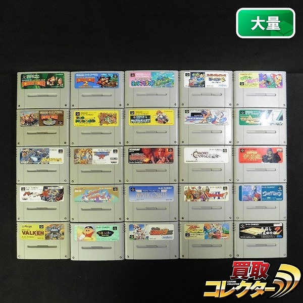 SFC ソフト 25本 魂斗羅スピリッツ ザ・グレイトバトル4 他
